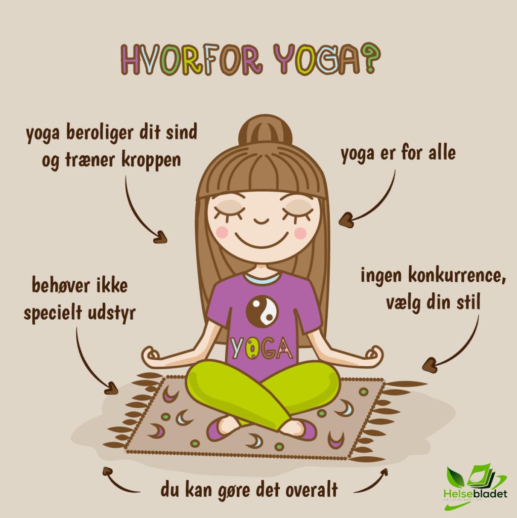 Hvorfor yoga (yogamåtte) infografik