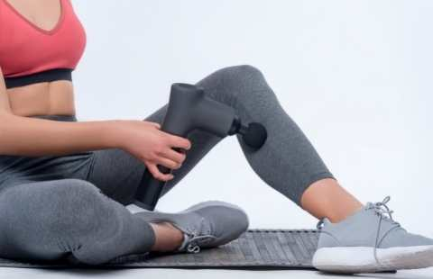 massagepistol på ben